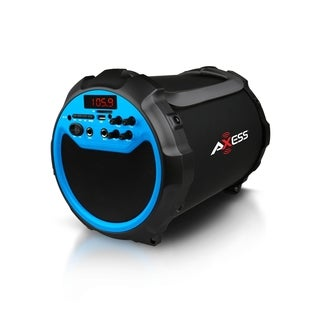 Axess Portable Indoor/ Outdoor Bluetooth Cylinder 2.1 Speaker with 6-inch Subwoofer and 3-inch Horn