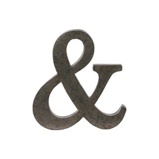 Bronze Metal Alphabet Tarnished Wall Decor '&' Symbol