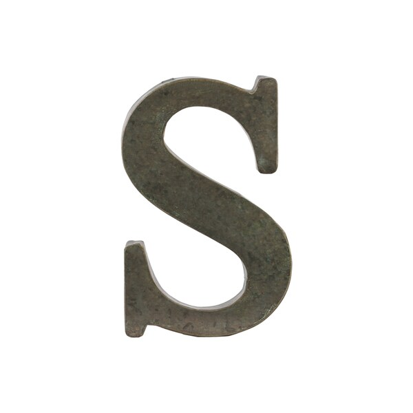 Metal Wall Letters Home Decor: Bronze Metal Alphabet Tarnished Wall Decor 'S' Letter