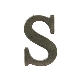 Bronze Metal Alphabet Tarnished Wall Decor 'S' Letter