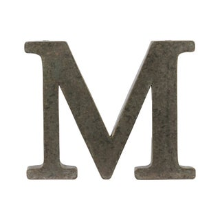 Bronze Metal Alphabet Tarnished Wall Decor 'M' Letter