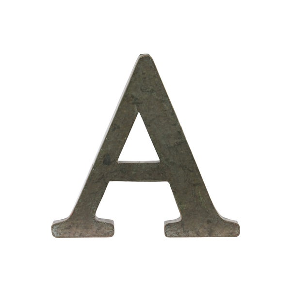 Metal Wall Letters Home Decor: Shop Bronze Metal Alphabet Tarnished Wall Decor 'A' Letter
