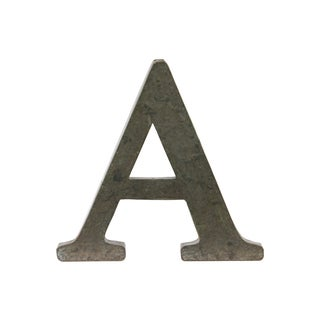 Bronze Metal Alphabet Tarnished Wall Decor 'A' Letter
