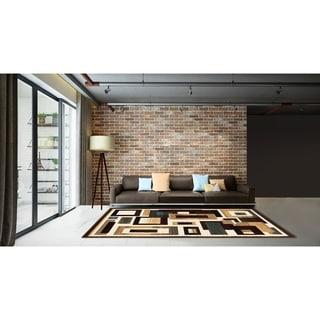 LYKE Home Contemporary Multicolor Area Rug (8' x 11')