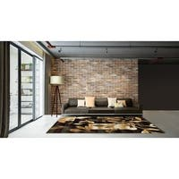 LYKE Home Contemporary Brown Area Rug - 8' x 11'