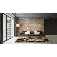 LYKE Home Contemporary Brown Area Rug (8' x 11')