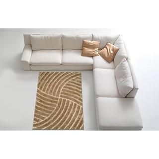 LYKE Home Contemporary Brown Jumbo Thick Shag Area Rug (8' x 11')