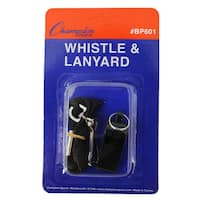 (15 EA) Plastic Whistle with Lanyard
