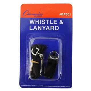 (15 EA) Plastic Whistle with Lanyard