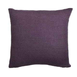 Drake Deep Liliac Knitted 20 inch Throw PIllow