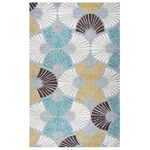 Rizzy Home Azzura Hill Collection Grey Geometric Accent Rug - 2' x 3'