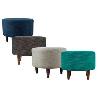 MJL Furniture Sophia Lucky Round Upholstered Ottoman (Option: Mocha)