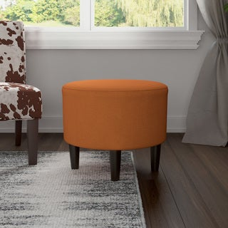 Porch & Den Church Hill Grace Round Upholstered Ottoman