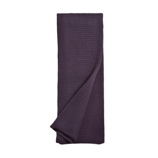 Drake Deep Lilac Cotton Knitted Throw