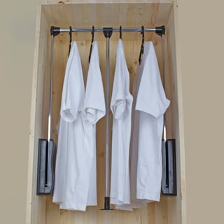 GlideRite Hardware Pull-Down Wardrobe Lift Closet Rod System