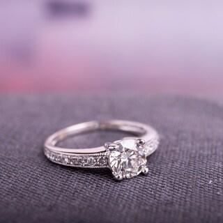 Miadora Signature Collection 18k White Gold 1 1/6ct TDW Diamond Engagement Ring (H, SI2, GIA)