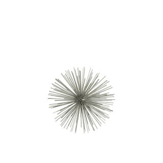 Small Metal Electroplated Gold Champagne Finished Sea Urchin Ball Wall Sculpture