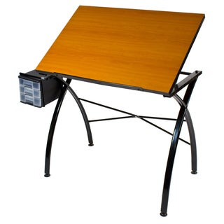 Offex Dezign Line Cherry Wood Melamine Drafting and Hobb Craft Drawing Table