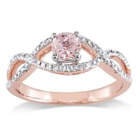 Miadora Signature Collection 14k Rose Gold Morganite and 1/4ct TDW Diamond Infinity Engagement Ring - Pink