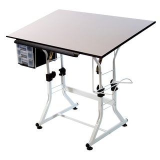 Offex Ashley Creative White Drafting and Hobby Craft Table