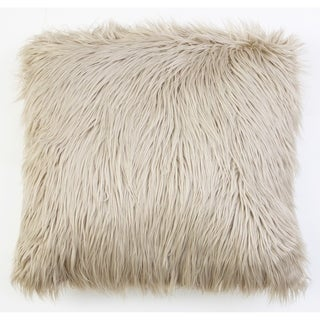 Thro by Marlo Lorenz Keller Faux Mongolian 26-inch Throw Pillow