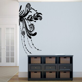 Corner Flourish Large Wall Decal
