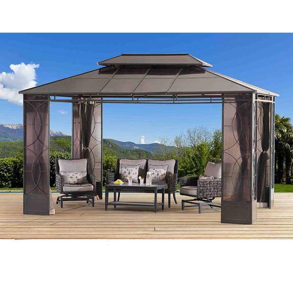 Sunjoy Reflections PC Top Gazebo Free Shipping Today