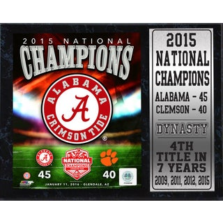 2015 National Champions Alabama 12-inch x 15-inch Stat Plaque