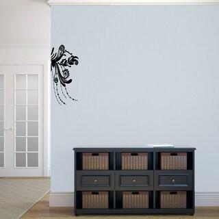 Corner Flourish' 10 x 22-inch Wall Decal