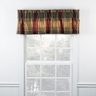 Boroughs Plum Plaid Tailored Valance