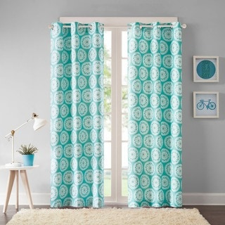 Intelligent Design Valia Medallion Printed Curtain Panel Pair