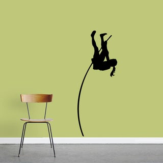 Female Pole Vaulter Medium Wall Decal