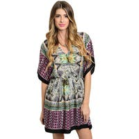Shop the Trends Women's Flutter Sleeve Short Dress
