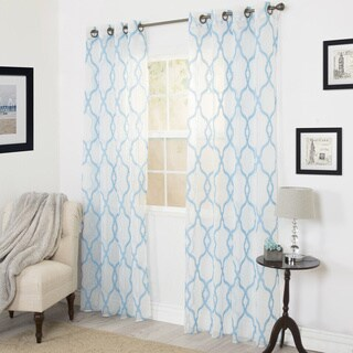 Windsor Home Eleanor Emboidered Curtain Panel - 54 x 84 (More options available)