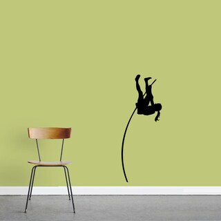 Female Pole Vaulter Small Wall Decal