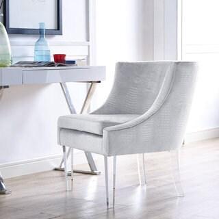 Myra Silver Croc Chair