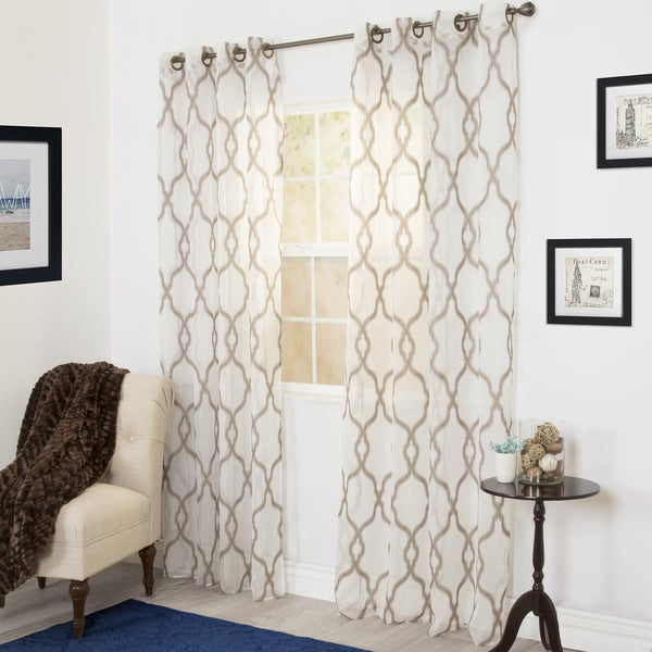 Windsor Home Eleanor Emboidered Curtain Panel - 108 Inches. Opens flyout.