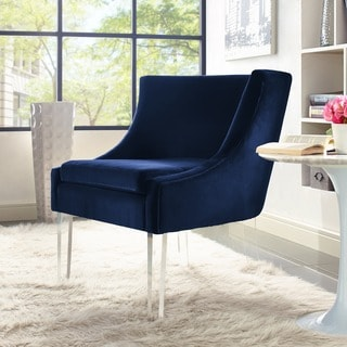 Myra Blue Velvet Chair