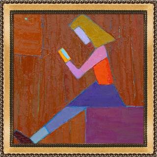 Alexey Rubanov 'The Girl on a Cube' Framed Fine Art Print