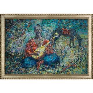 Alexey Rubanov 'Cossack Mamay' Framed Fine Art Print