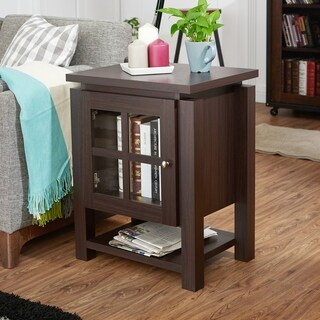 Furniture of America Wilbur Contemporary Walnut End Table