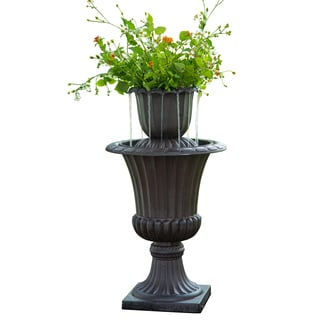 Peaktop Outdoor Flower Pot Water Fall Fountain