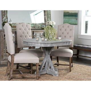 Kosas Home Hand Distressed Rockie Rustic Grey Sustainable Plantation Grown Pine 47-inch Oval Dining Table