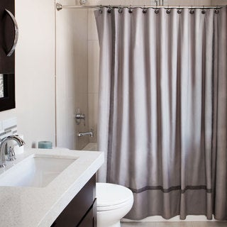 Andrew Charles Atlas Collection 72-inch Grey Shower Curtain