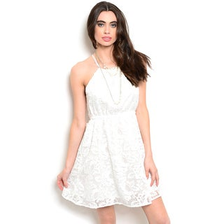 Shop the Trends Women's Spaghetti Strap Lace A-Line Dress
