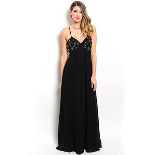 Shop the Trends Women's Embellished Bodice Empire Gown With V-Neckline (2 options available)