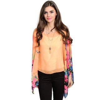 Shop the Trends Women's Long-Sleeve Pullover Sheer Top