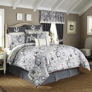 Croscill Yachtsman Coastal Print 4-piece Comforter Set