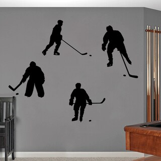 Hockey Players Large Wall Decals
