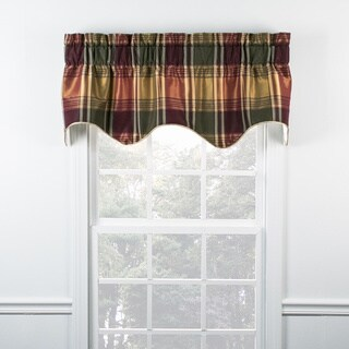 Boroughs Plum Plaid Duchess Filler Valance